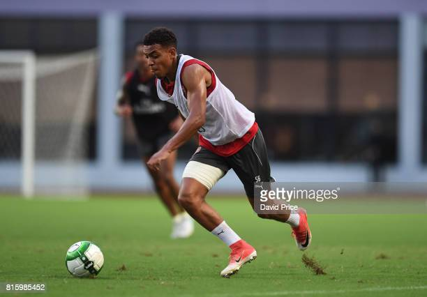 Donyell Malen of Arsenal during an Arsenal Training Session at Yuanshen Sports Centre Stadium on July 17 2017 in Shanghai China