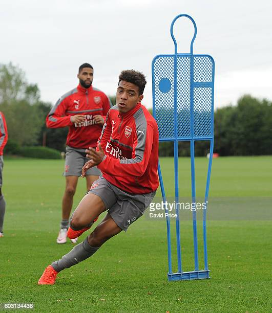 Donyell Malen of Arsenal during the Arsenal UEFA Youth League Training Session at London Colney on September 12 2016 in St Albans England
