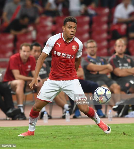 Donyell Malen of Arsenal during the match between Arsenal and Chelsea at Birds Nest on July 22 2017 in Beijing China