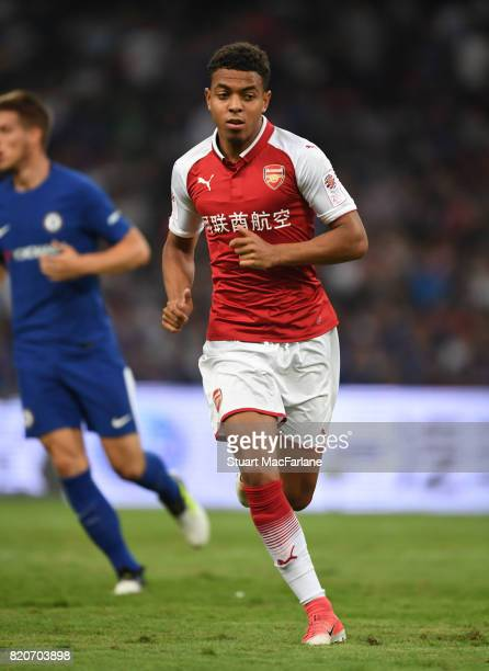 Donyell Malen of Arsenal during the pre season friendly between Arsenal and Chelsea at the Birds Nest on July 22 2017 in Beijing