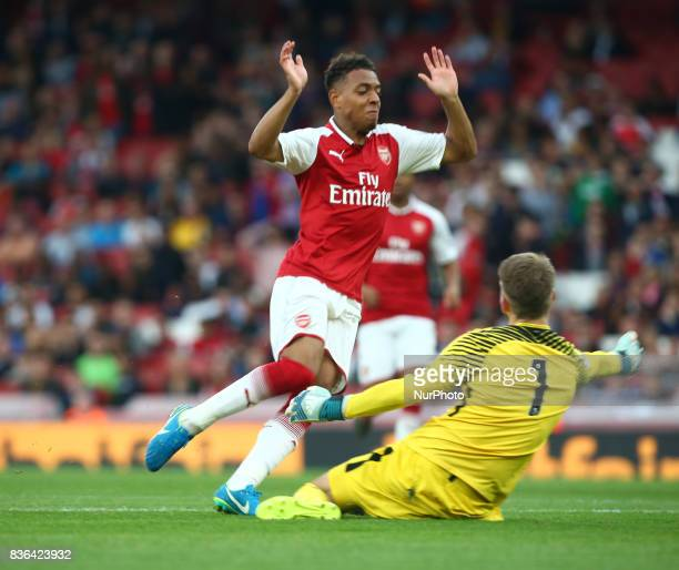 Donyell Malen of Arsenal U23s during Premier League 2 match between Arsenal Under 23s against Manchester City Under 23s at Emirates Stadium London on...