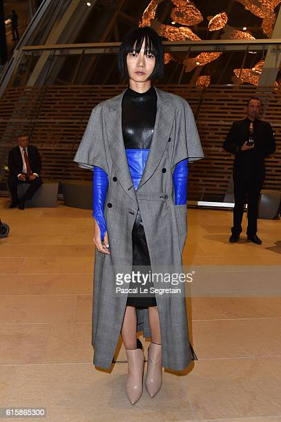 Doona Bae attends a Cocktail for the opening of 'Icones de l'Art Moderne La Collection Chtchoukine'at Fondation Louis Vuitton on October 20 2016 in...