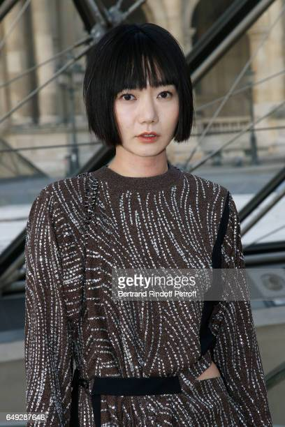 Doona Bae attends the Louis Vuitton show as part of the Paris Fashion Week Womenswear Fall/Winter 2017/2018 on March 7 2017 in Paris France