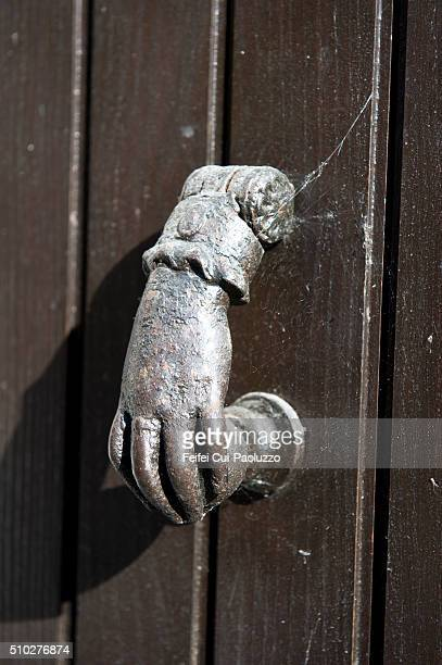Door and hand at Bergerac Dordogne France