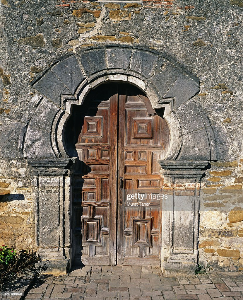 Door at Mission Espada Church San Antonio Texas : Stock Photo & Door At Mission Espada Church San Antonio Texas Stock Photo ... Pezcame.Com