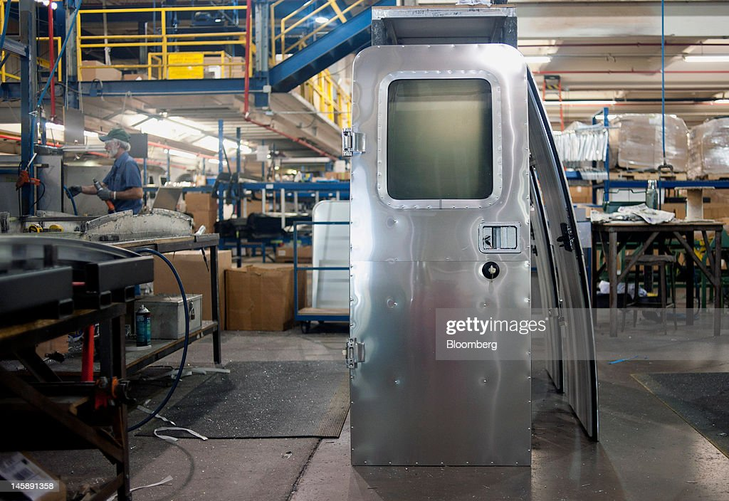 A door awaits installation at the Airstream Inc. manufacturing facility in Jackson Center, Ohio, U.S., on Wednesday, June 6, 2012. The U.S. Federal Reserve is scheduled to release industrial production data on June 15. Photographer: Ty Wright/Bloomberg via Getty Images