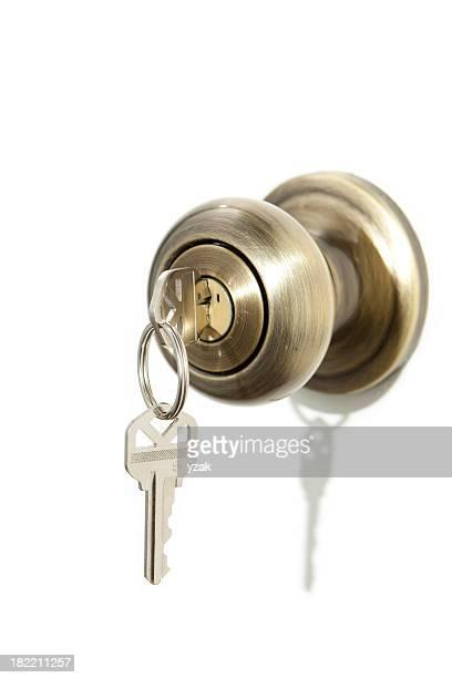 Poignée de porte avec clés