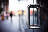 Door Handles on a Glass Office Building