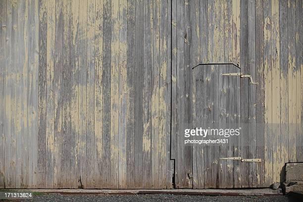 Door in a barn wall