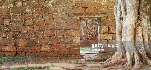 Door in a stonewall Province Misiones Argentina