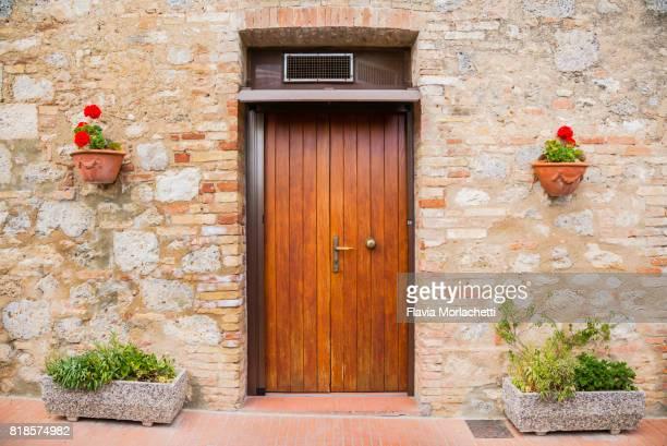 Door in San Gimignano, Tuscany