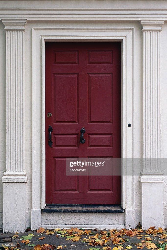 Door in white frame : Stock Photo