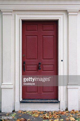 Door in white frame : Stockfoto