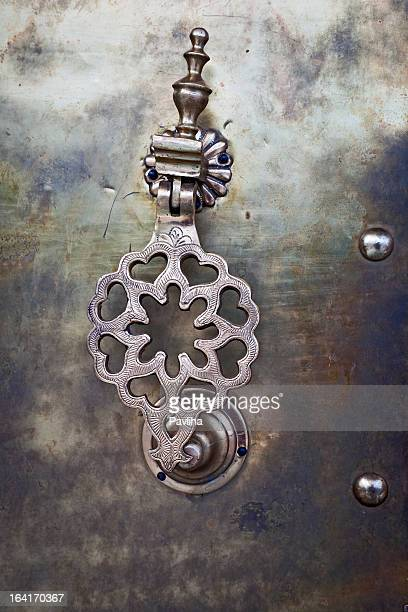 Door Knob with Hearts in Royal Palace Fes Morocco Africa