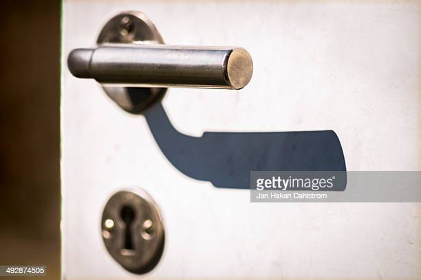 Door knob with shadow