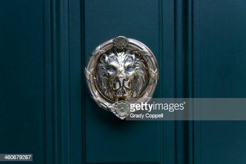 Door knocker on front door