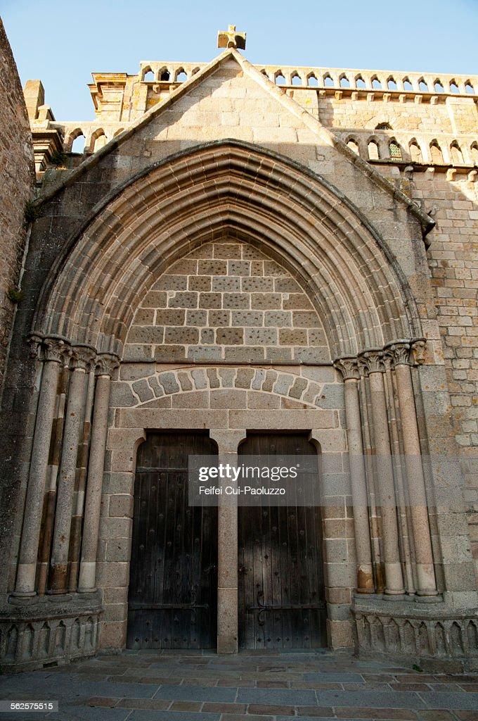 Door of Church Mont Saint-Michel