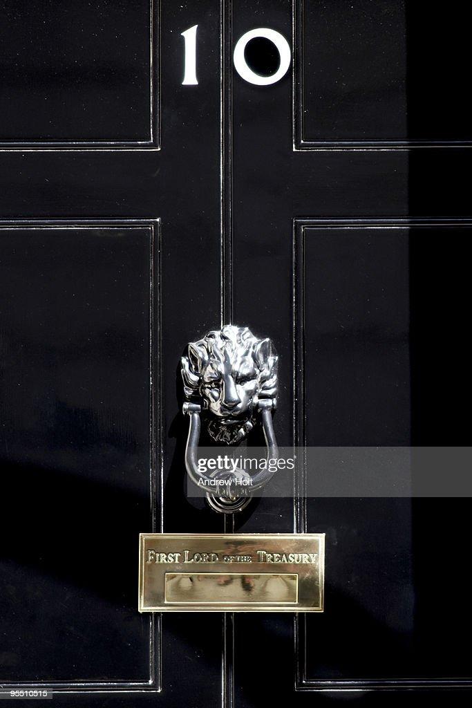 Door of no 10 downing street stock photo getty images for 10 door