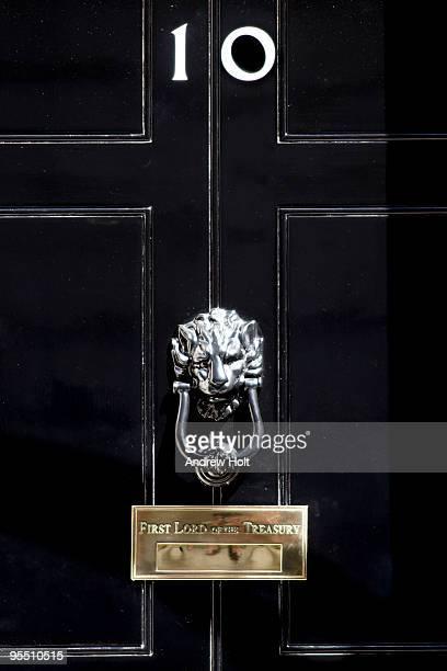Door of No 10 Downing Street