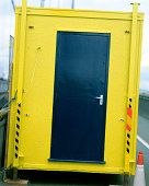 Door of yellow container