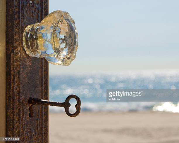 Door Opens to Vacation on the Beach