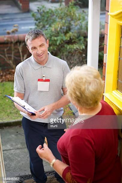 Door salesman