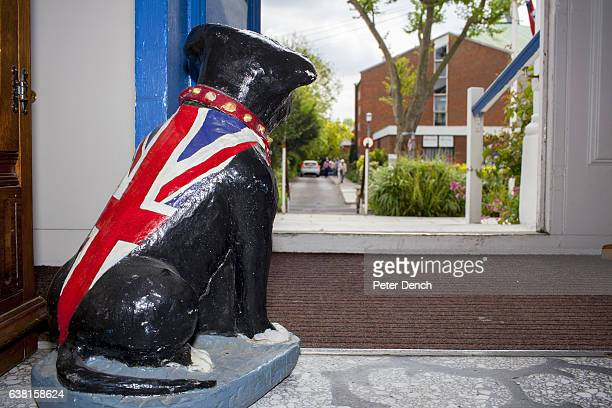 A door stop at Margaret Thatcher House in the town of Romford constituency address of Andrew Rosindell MP who would like the UK to leave the EU...