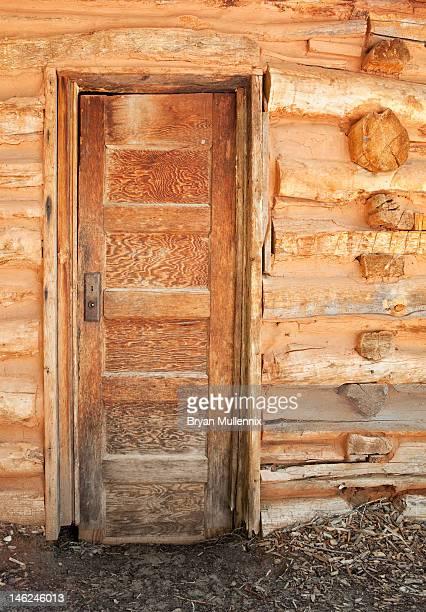 Door to a pioneer cabin, Utah