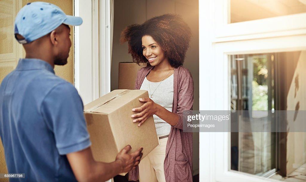 Door to door delivery : Stock Photo