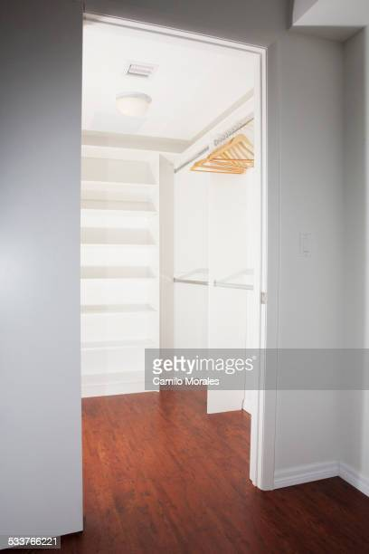 Door to empty walk-in closet