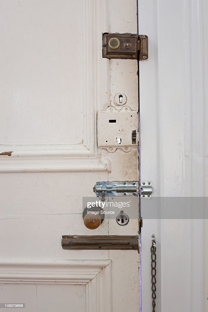 Door with many locks and bolts
