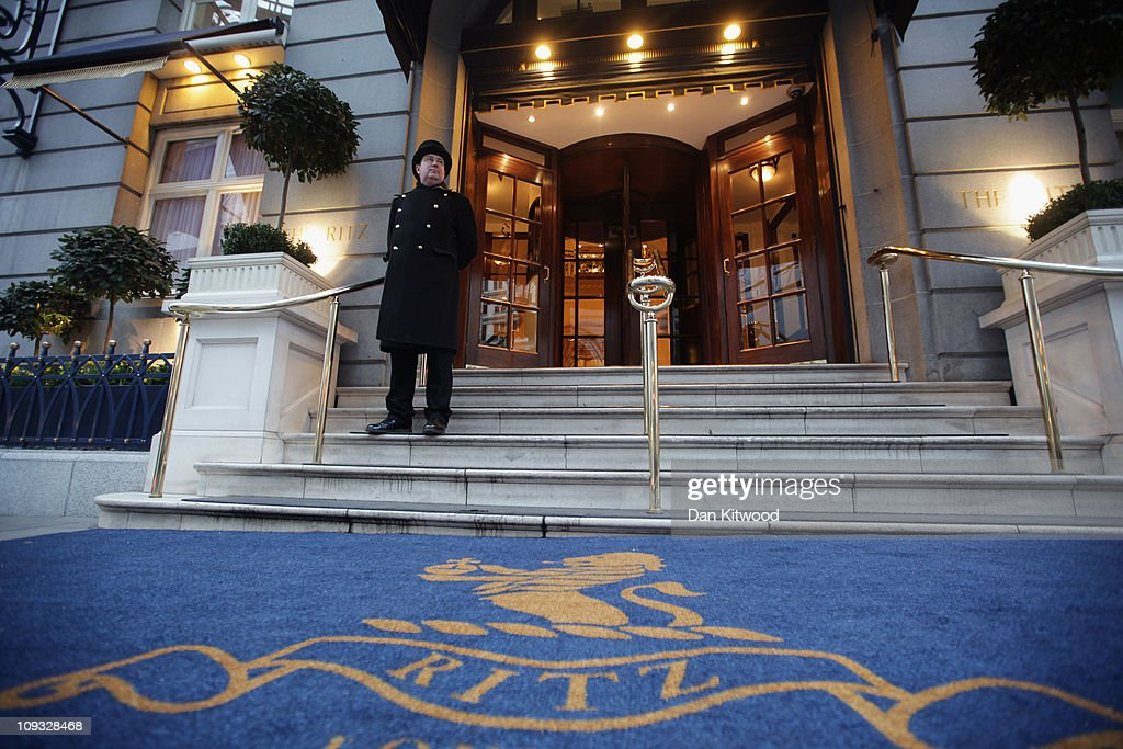 A doorman stands at the entrance to The Ritz Hotel on February 21, 2011 in London, England.