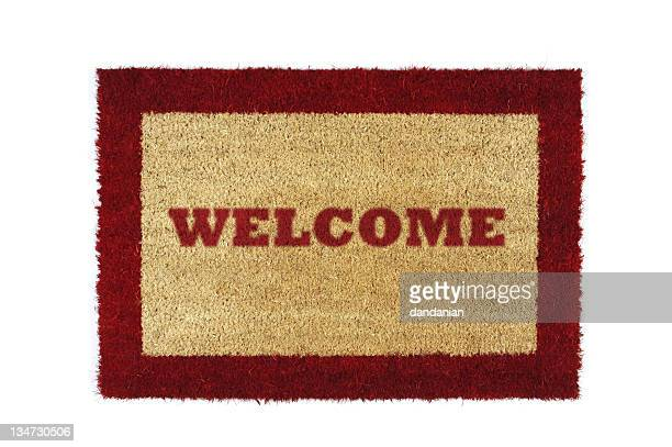 doormat red welcome