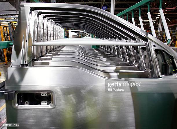 Doors for the allnew 2015 Ford F150 truck await assembly at the Ford Dearborn Truck Plant November 11 2014 in Dearborn Michigan The new 2015 F150 is...