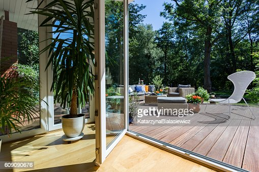 Doors open to relax : Stock Photo