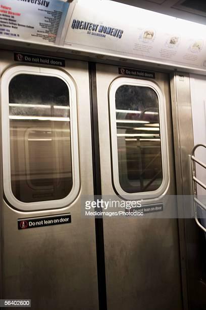 Doors to subway car