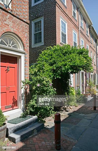 Doorway and Houses in Elfreth's Alley