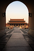 Doorway of The Hall of Supreme Harmony inside Forbidden City
