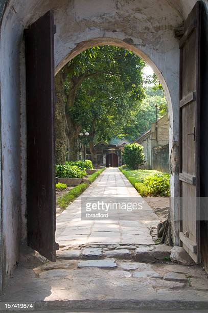 Doorway To A Garden In The Temple Of Literature, Hanoi