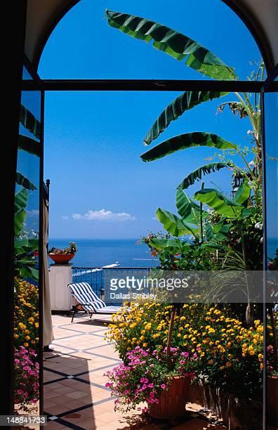 Doorway to terrace at Hotel Punta Regina.