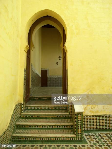 Doorway to the courtyard of the Moulay Ismail Mausoleum, Meknes, Morocco
