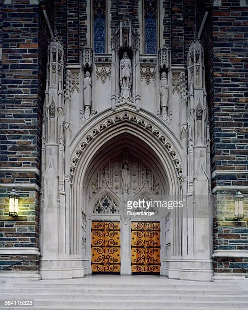 Doorway to the Duke University Chapel Durham North Carolina
