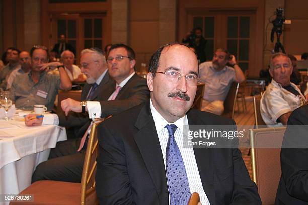 Dore Gold former Israeli ambassador to the UN and head of JPCA at a conference on Israeli security regional diplomacy and international law and...