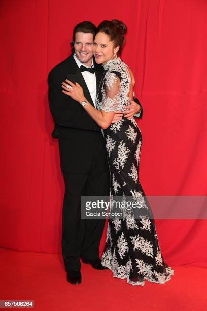 Doreen Dietel and her partner Tobias Guttenberg during the 8th Filmball Vienna at City Hall on March 24 2017 in Vienna Austria