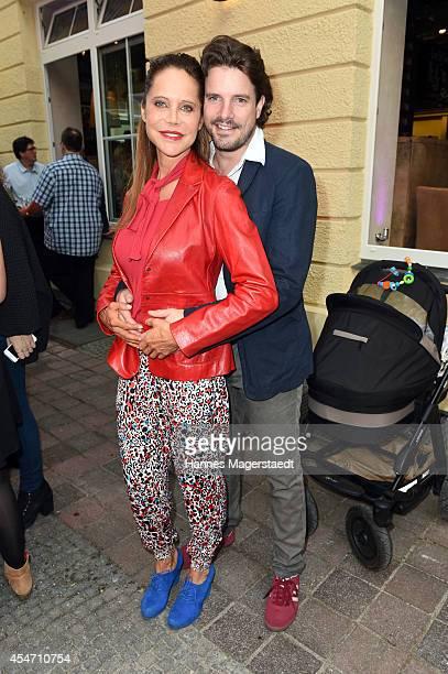 Doreen Dietel and Tobias Guttenberg attend the 'El Gaucho' Restaurant Opening on September 5 2014 in Munich Germany