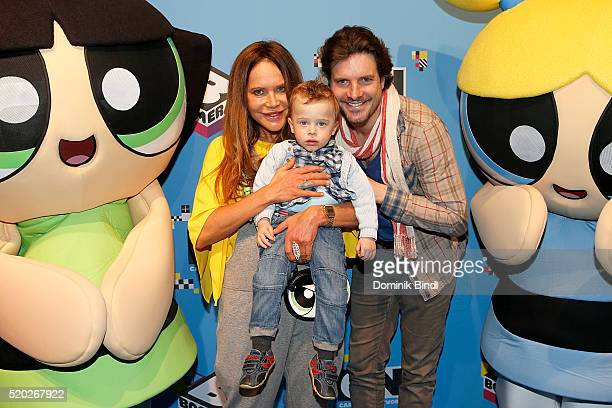 Doreen Dietel and Tobias Guttenberg attend the Family Friends Fun Day by kids TV channels Cartoon Network and Boomerang at TonHalle on April 10th in...