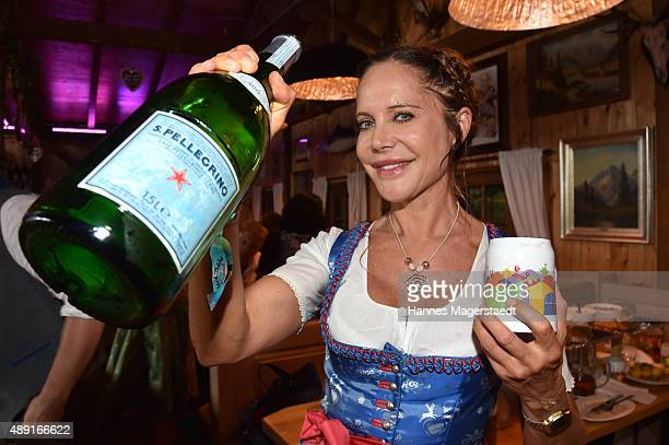 Doreen Dietel attends the Fisch Baeda during the Oktoberfest 2015 Opening at Theresienwiese on September 19 2015 in Munich Germany