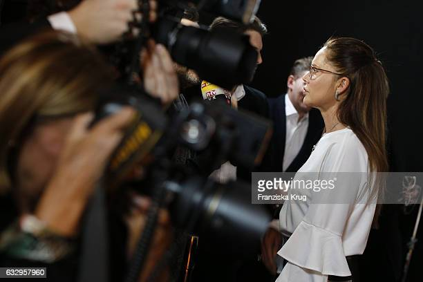 Doreen Dietel attends the Rodenstock Exhibition Opening Event at Museum of Urban and Contemporary Art in Munich on January 28 2017 in Munich Germany