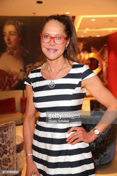 Doreen Dietel during the Lovely Friends Fashion Lunch benefit to 'Children for a better world eV' at Hotel Vier Jahreszeiten on April 26 2017 in...