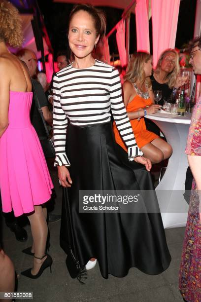 MUNICH GERMANY JUNE 26 Doreen Dietel wearing a dress by Madeleine during the Movie meets Media Party during the Munich Film Festival on June 26 2017...